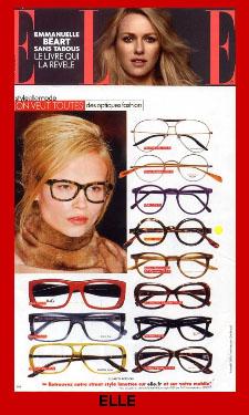 Image of Lafont Eyeglasses in Elle Magazine