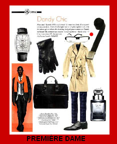 Image of Men's Lafont Eyeglasses in Premiere Dame Magazine