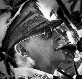 General Douglas MacArthur in Ray-Ban Aviator Sunglasses