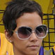 Image of Halle Berry in Oliver Peoples Sabina Sunglasses