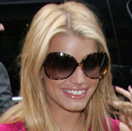 Image of Jessica Simpson in Oliver Peoples Chelsea Sunglasses