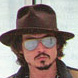 Image of Johnny Depp in Tom Ford Fonda TF0022 Sunglasses
