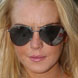 Image of Lindsay Lohan in Badgley Mischka Perry Sunglasses