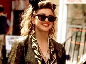 Madonna in Ray-Ban Wayfarers in Desperately Seeking Susan