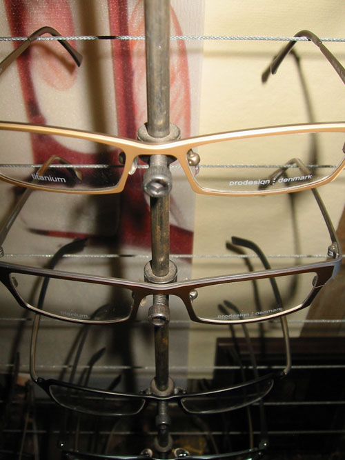 Close Up of ProDesign Denmark Frames from Urban Optiques