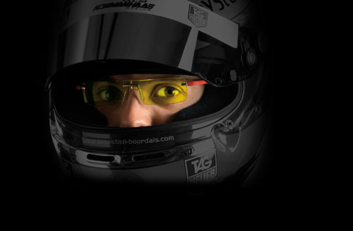 Sabastien Bourdais in TAG Heuer Night Vision Night Driving Glasses