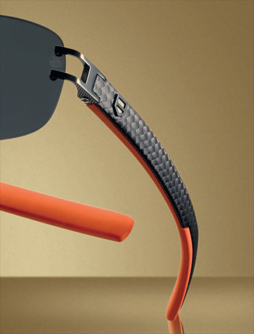 TAG Heuer L-Type Sunglasses Temple Closeup