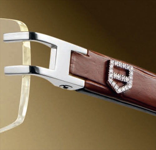 Diamond Shield Closeup from TAG Heuer L-Type Diamond Shield Eyeglasses
