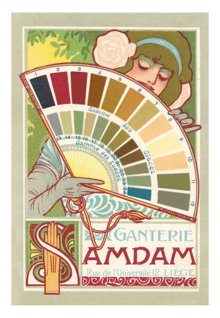 Tattooed lady on pinterest art nouveau flowers art - Art deco color combinations ...