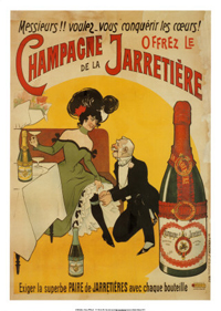 Our Muse:Champagne De La Jarretiere Art Nouveau Advertising Poster