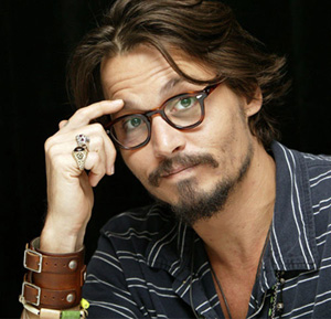 Johnny Depp in his Moscot Eyeglasses
