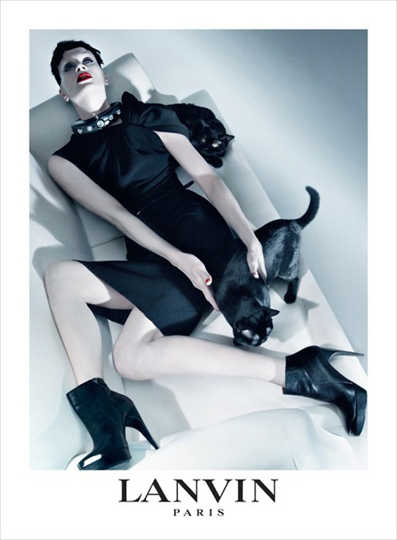 More Black Kitty Cats with the Lanvin Model