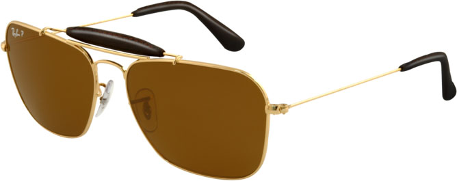 Ray-Ban-RB-3415Q Gold Aviator Sunglass