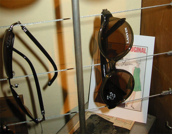 Lavin Sunglasses with Vintage Vogue Cover in Background