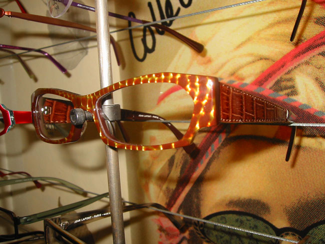 Lafont Venise Frames in Tortoise with Croc-Inspired Temples
