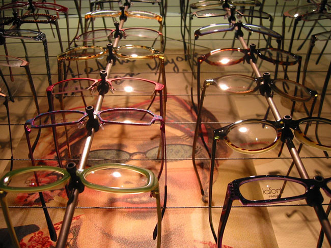 Urban Optiques Lafont Eyeglasses on Display
