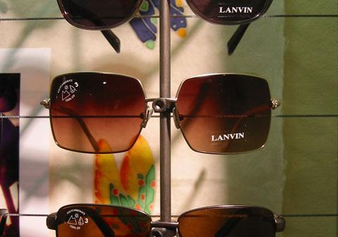 Lanvin Square Aviator Sunglasses