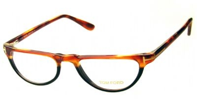 Tom Ford FT-5117 Womens Eyeglasses in Brown Tortoise with Blue Tinted Frames