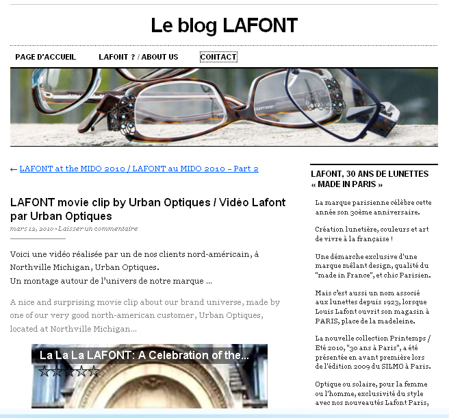 Urban Optiques Featured On Lafont Blog