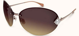 Badgley Mischka Grace Sunglasses Aviator Style