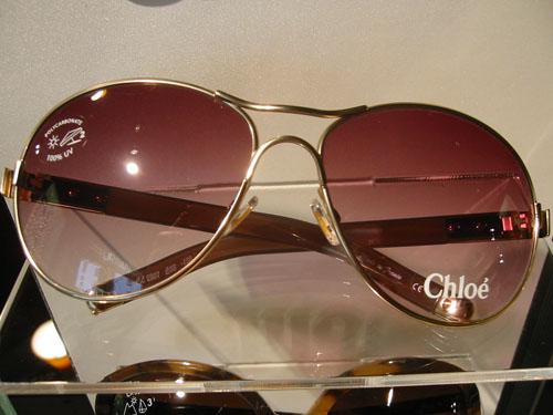 Chloé Aviator Style Sunglasses