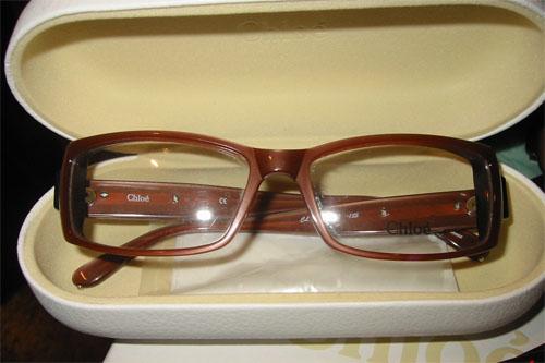 Chloé Brown Eyeglasses in White Chloé Case