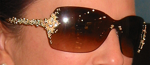 Detail of Diamonds in FRED Pearls Sunglasses