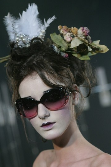 John Galliano Sunglasses Feature During the Galliano Couture Show