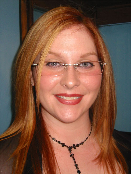 Another Picture of Lindsey in the Diamond Encrusted FRED Lunettes