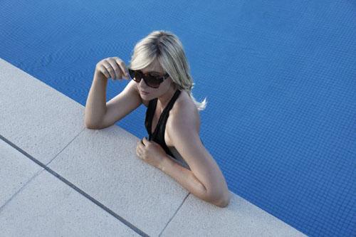 Maria Sharapova TAG Heuer Sunglasses In Pool