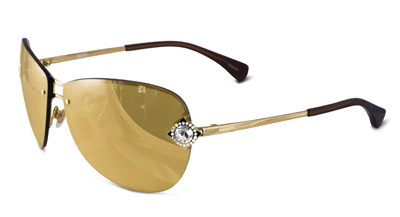24k Gold Plated Lenses Set in Gold Sunglass Frames by Badgley Mischka Eyewear