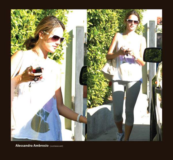 Alessandra Ambrosio in Sama Sunglasses
