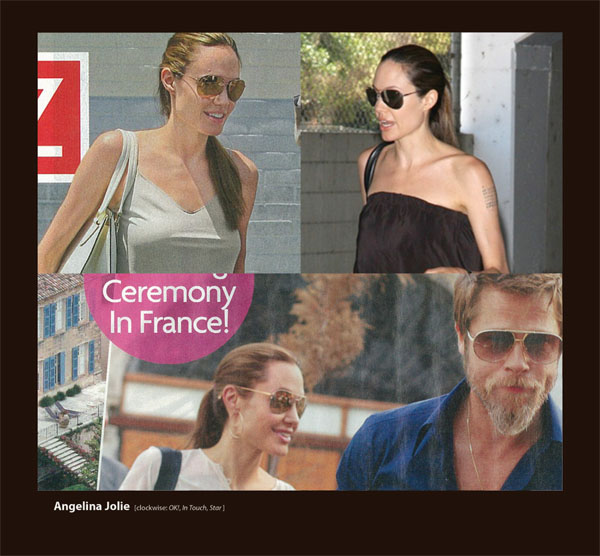 Angelina Jolie in Badgley Mischka Perry Sunglasses by Sama