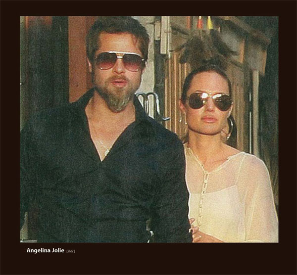 Brad Pitt and Angelina Jolie is Sama Sunglasses