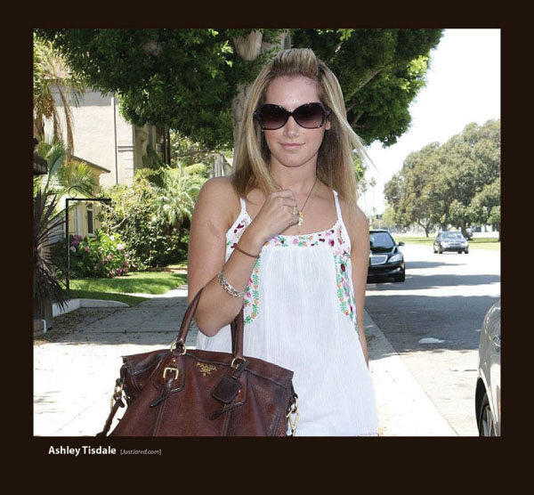 Ashley Tisdale in Sunglasses by Sama Couture