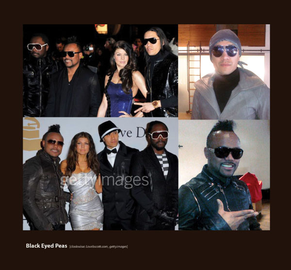 Blacked Eyed Peas in Sama Sunglasses