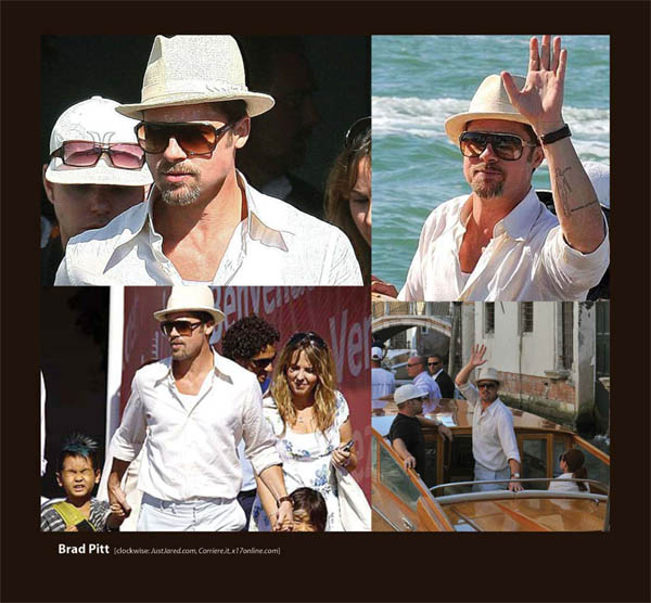 Brad Pitt in Badgley Mischka Boyd Sunglasses by Sama Eyewear