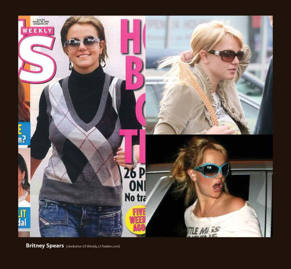 Britney Spears in Badgley Mischka Sunglasses by Sama