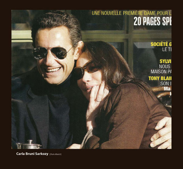 Carla Bruni Sarkozy in Sama Sunglasses