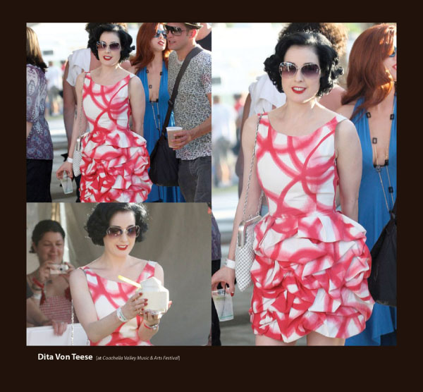 Dita Von Teese in Sama Sunglasses