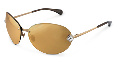 24K Yellow Gold Gace Sunglasses by Badgley Mischka