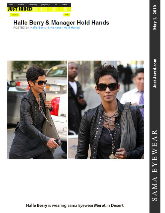 Halle Berry Sunglases: Meret Sunglasses by Sama on Halle Berry