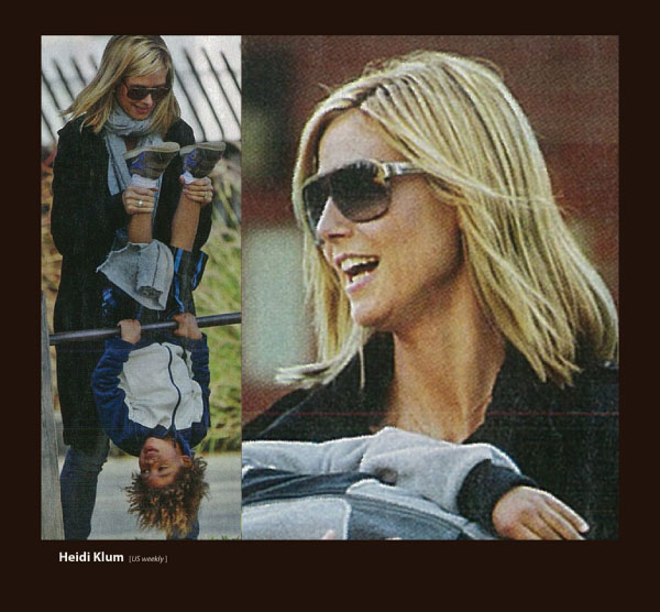 Heidi Klum in Sama Couture Sunglasses