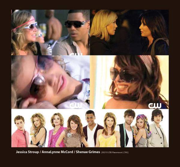 Jessica Stroup, AnnaLynne Mcord and Shena Grimes in Sama Sunglasses