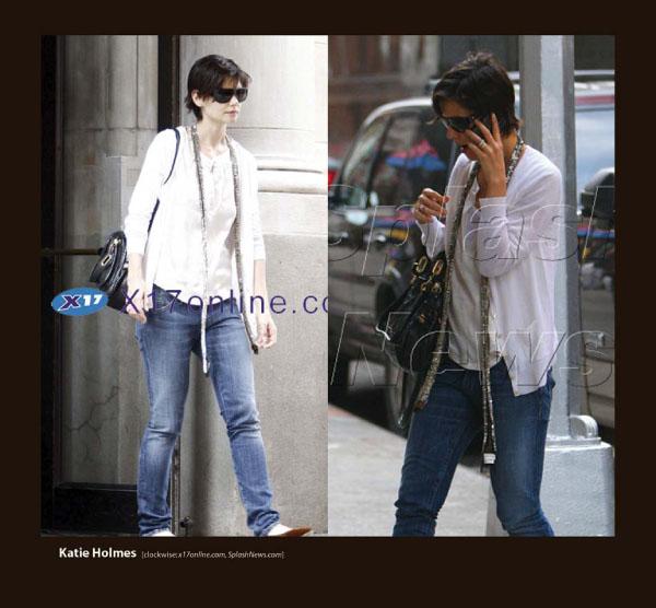 Katie Holmes in Sama Sunglasses