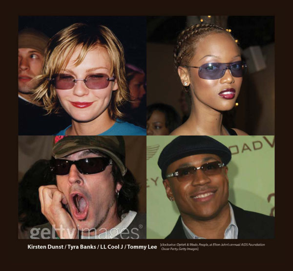 Kirsten Dunst, Tyra Banks and LL Cool Jay in Sama Sunglasses