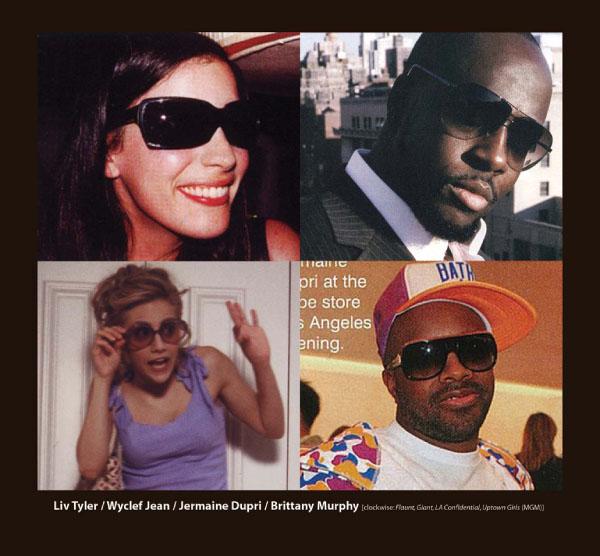 Liv Tyler, Wyclef Jean, Jermain Dupri and Brittany Murphy in Sama Sunglasses