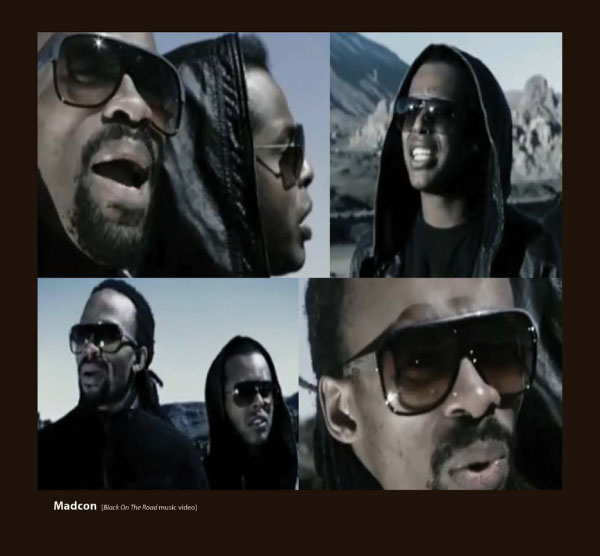 Madcon in Sunglasses by Sama Couture Eyewear