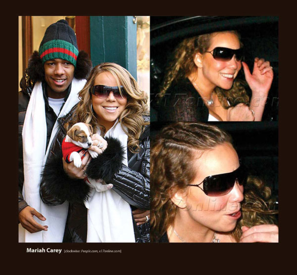 Mariah Carey in Badgley Mischka Sunglasses by Sama
