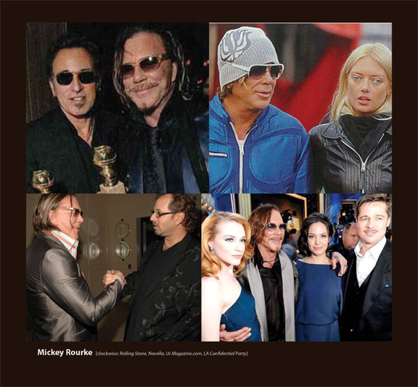 Mickey Rourke in Sunglasses by Sama